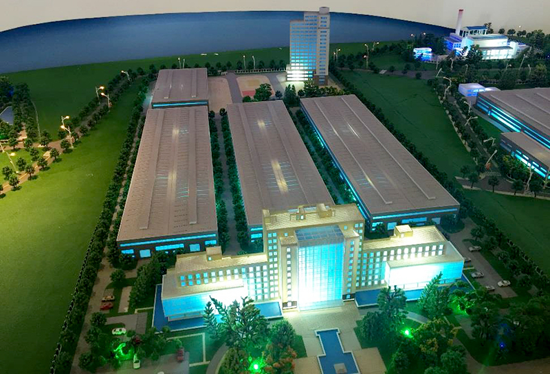 A model overview of the CWPC:s manufacturing unit in Chengdu.