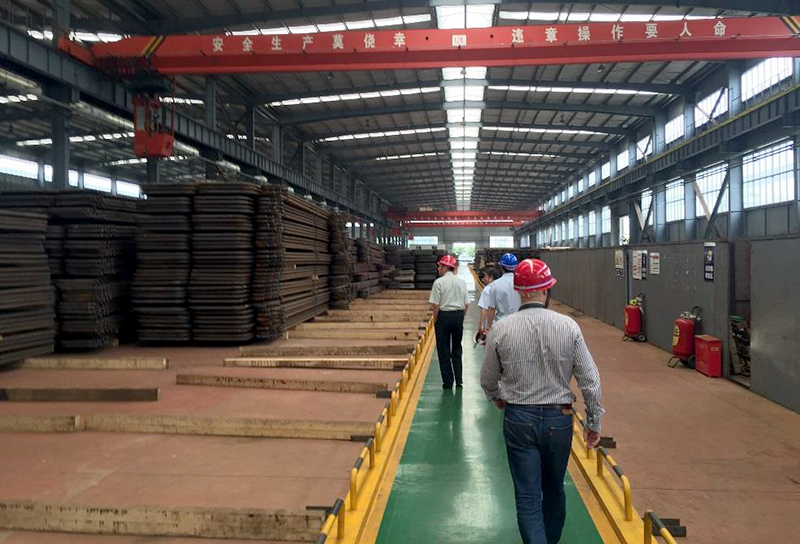 Production of super heater piping.