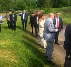 Site visit at Bila Tserkva together with Government officials.