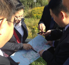 CWPC team reviewing the land.